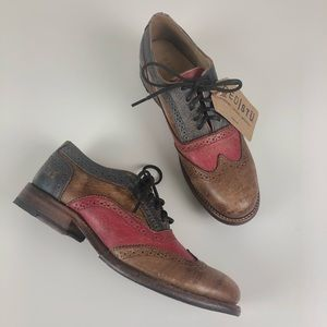 NWT/NIB Bed Stu Lita tri-color Oxford shoe 9.5